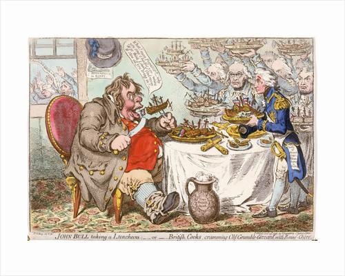 John Bull taking a Luncheon... by James Gillray