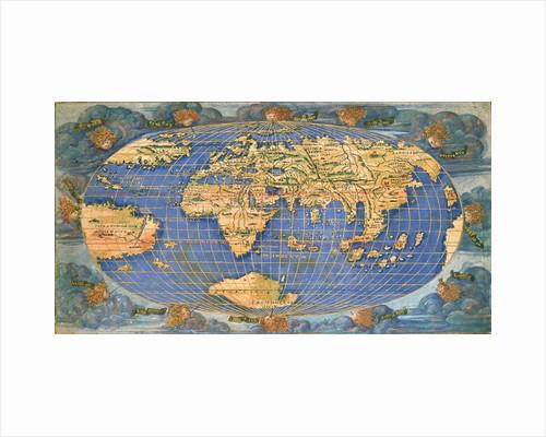 Planisphere world map by Francesco Rosselli, around 1508 by Francesco Rosselli