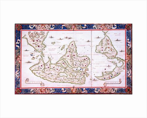 World map, 1567 by Nicholas des Liens