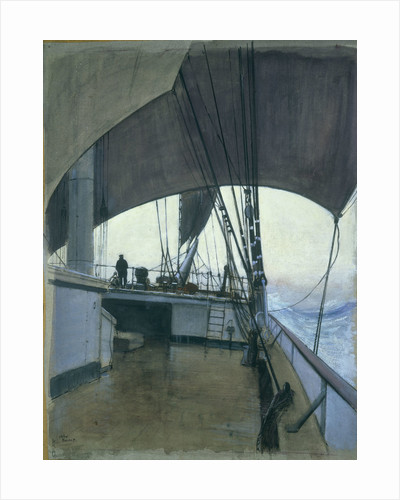 Deck scene on the barque 'Suzanne' by Herbert Barnard John Everett