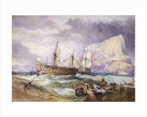 HMS 'Victory' towed into Gibraltar by Clarkson Stanfield