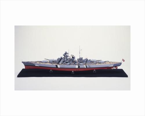 'Bismarck', port broadside view by H. G. Sitford