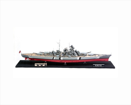 'Bismarck', starboard broadside view by H. G. Sitford