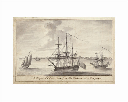 A view of Charleston, Carolina by Nicholas Pocock (21 June to 4 November 1767, on voyages from Bristol to South Carolina and back) by Nicholas Pocock