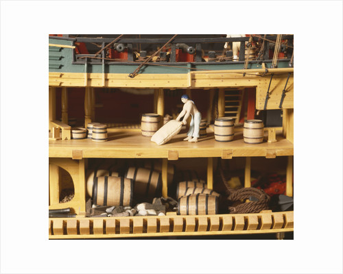 HM bark 'Endeavour', interior, upper and lower deck and hold by Robert A. Lightley