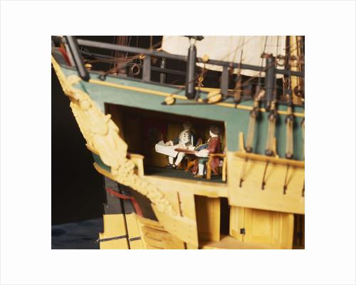 'Endeavour', interior, stern cabin by Robert A. Lightley