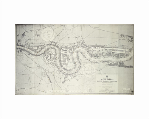 Map of River Thames: London Bridge to Woolwich by unknown