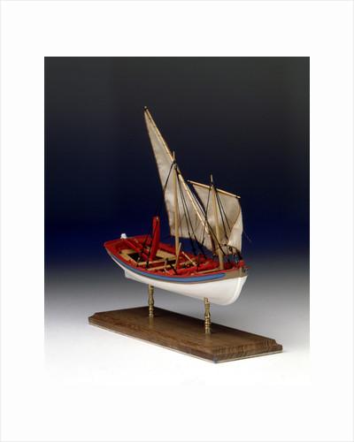 Full hull model, 6-oared ship's launch, starboard by Robert A. Lightley