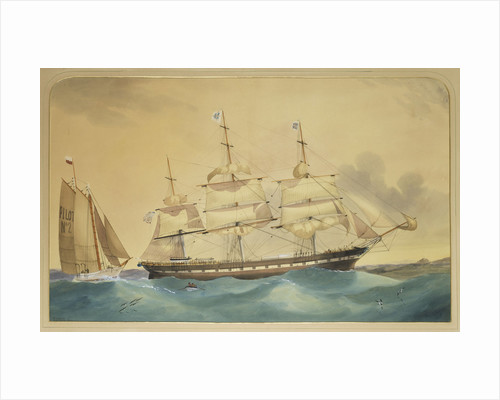 Clipper ship 'Walmer Castle' by Thomas Goldsworth Dutton