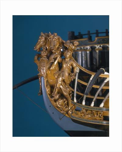 Full hull model of First Rate 100-gun warship 'Royal George' (1756) by Thomas Burroughs