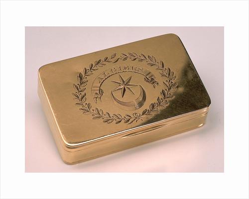 Gold snuff box by Alexander James Strachan
