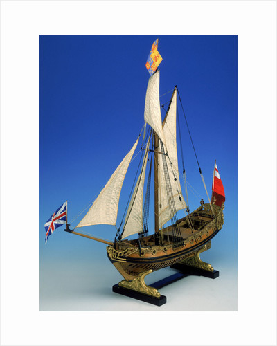 Skeleton model, royal yacht, port by unknown