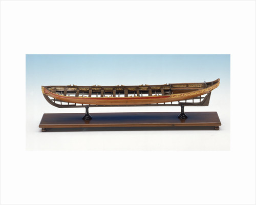 Full hull model, shallop, port broadside by unknown