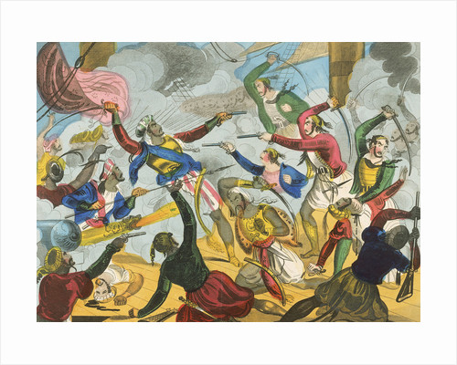 Turks attacking Greek corsairs by unknown
