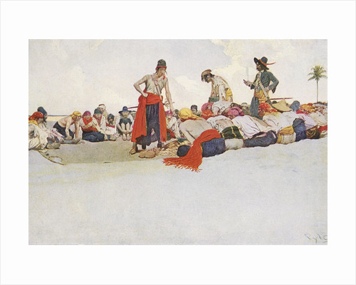 Pirates share out their spoils by Howard Pyle