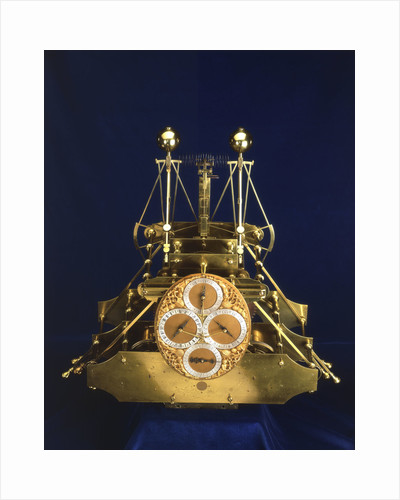 Front view of John Harrison's marine timekeeper H1 by John Harrison