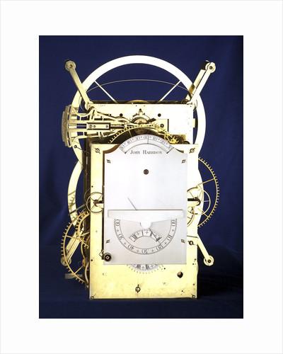 Marine timekeeper H3, front by John Harrison
