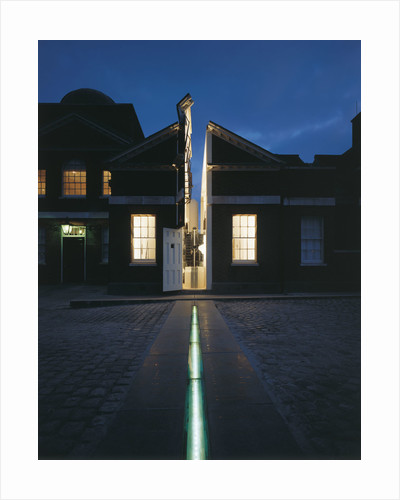 Illuminated Meridian Line at night, Royal Observatory, Greenwich by National Maritime Museum Photo Studio