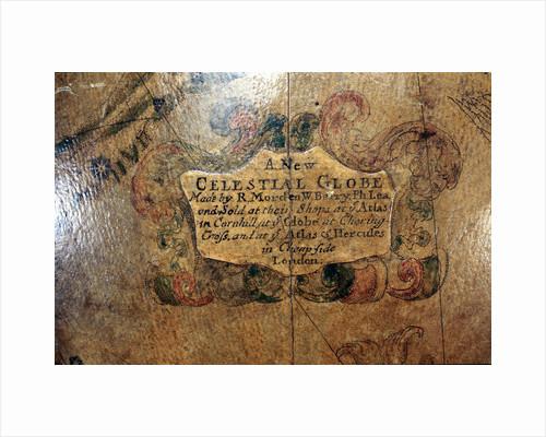 Cartouche below Eridanus by Robert Morden