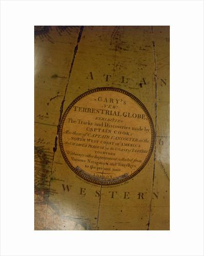 Cartouche in Atlantic Ocean by John Cary