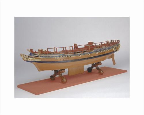 Accommodation model, yacht, starboard by Allen Hunt
