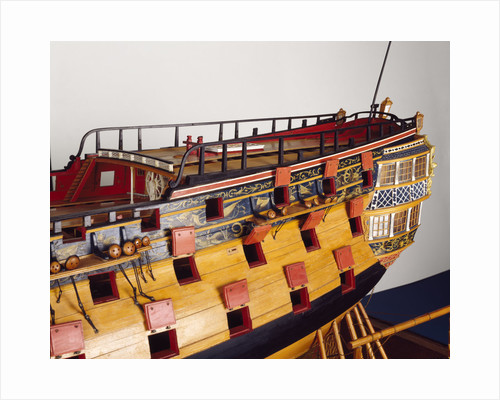'Bellona', stern detail by George Stockwell