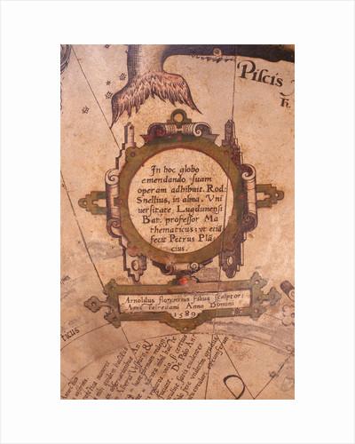 Cartouche below Piscis Notius by Jacob Floris van Langren