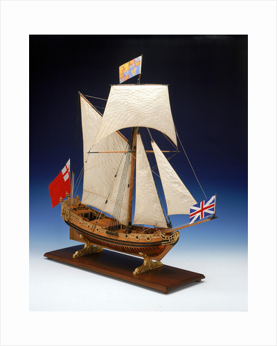Skeleton model, royal yacht, starboard by unknown