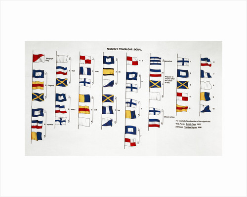 Horatio Nelson's flag signal at the Battle of Trafalgar, 1805 by unknown