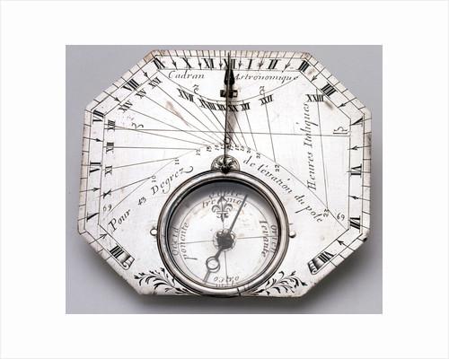Horizontal dial by Nicolas Bion