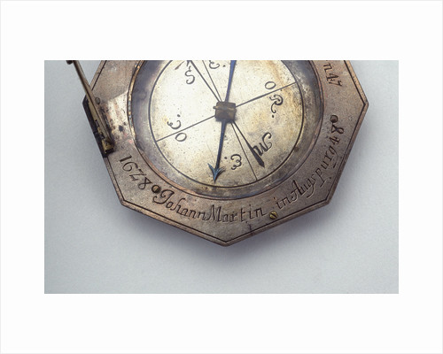 Augsburg dial, detail of signature by Johann Martin