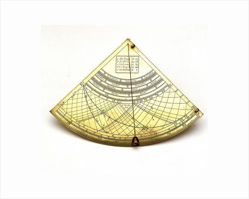 Obverse of Gunter quadrant by John Marke