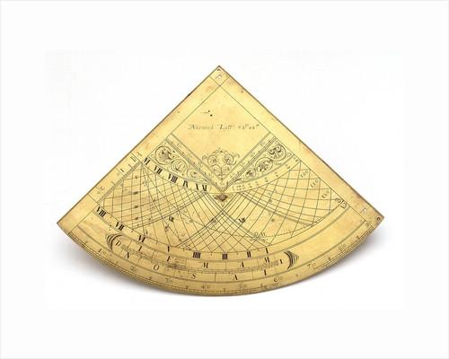 Obverse of Gunter quadrant by unknown