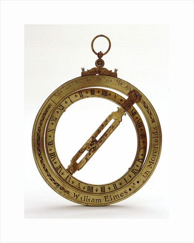 Universal equinoctial ring dial by William Elmes