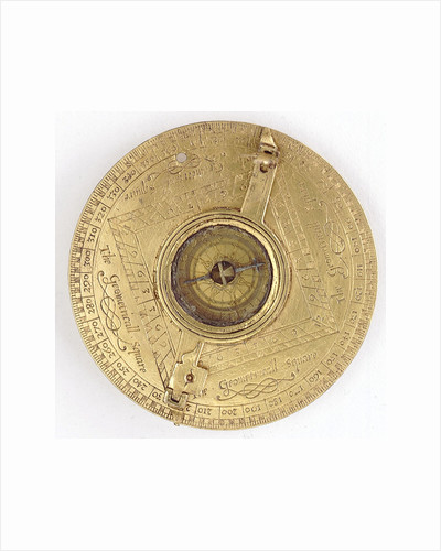 Astronomical compendium, leaf IVa, compass and theodolite by Humphrey Cole