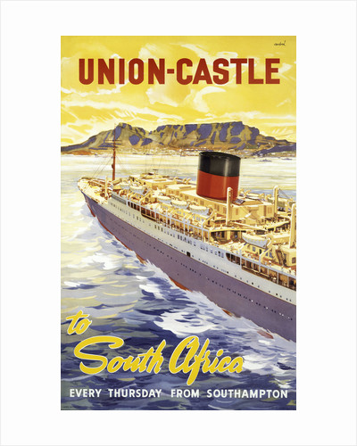 Union Castle Line Poster; South Africa by unknown