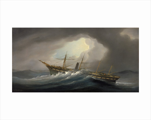 Paddle steamer 'Great Western' in a gale by Samuel Walters