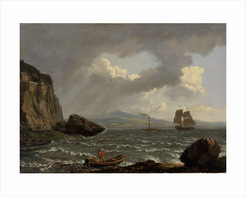 Paddle steamer 'Dumbarton Castle' in the Clyde off Dumbarton Rock by John Wilson