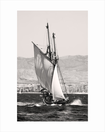The Gaff Schooner 'Far Barcelona' built 1874 underway during the Tall ship race from Alicante 2007 by Richard Sibley