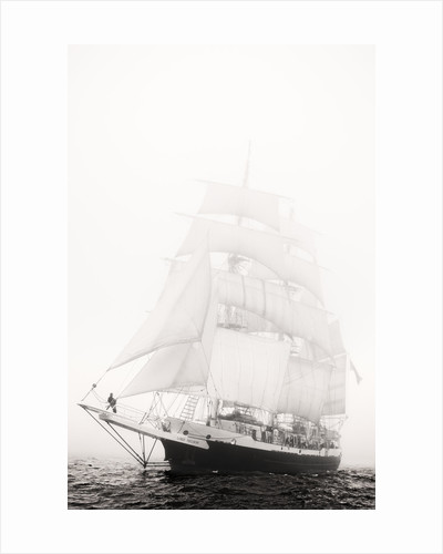 3 masted barque 'Lord Nelson' in fog during the 50th anniversary Tall Ships Race, Torbay 2006 by Richard Sibley