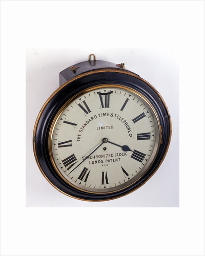 Electrically-corrected dial clock by The Standard Time and Telephone Co.