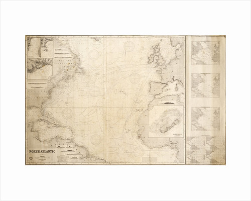 Chart of the North Atlantic Ocean by James Imray & Son; James Imray