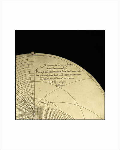 Astrolabe: inscription on plate for 51 by Michael D. Piquer