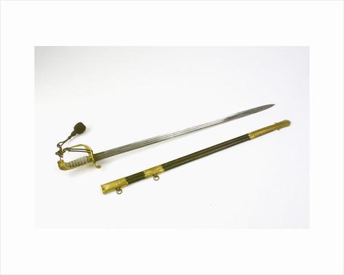 Solid half-basket hilted sword by F. Highatt