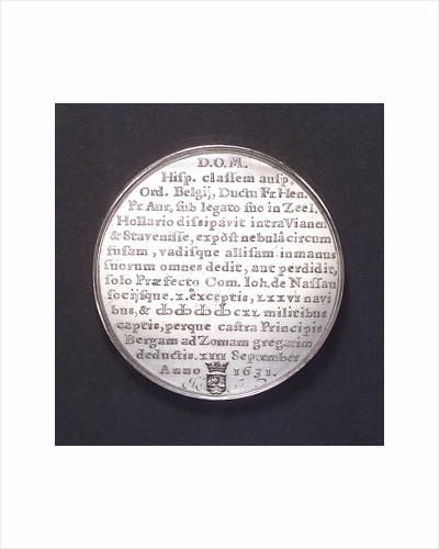Medal commemorating the Spanish fleet captured at the Slaak, 1631; reverse by J. Looff