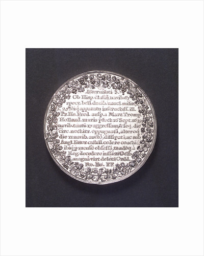 Medal commemorating the destruction of the Spanish fleet off Dover, 1639; reverse by J. Looff