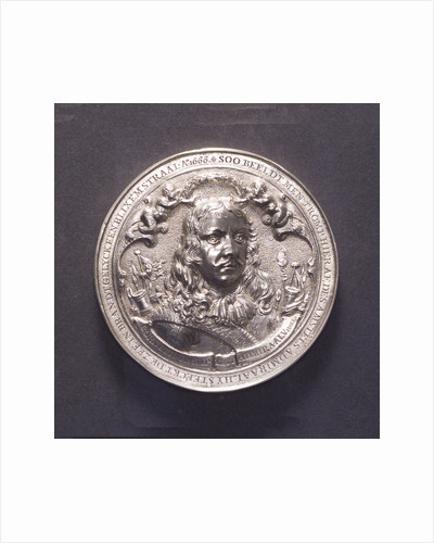 Medal commemorating the Battle of the Four Days and Admiral Van Tromp, 1666; obverse by O.M.