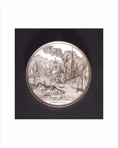 Medal commemorating the Battle of the Four Days and Admiral de Ruyter, 1666; reverse by C. Adolfszoon