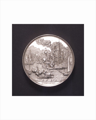 Medal commemorating the Battle of the Four Days, 1666; obverse by C. Adolfszoon