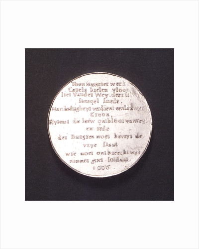 Medal commemorating the Battle of the Four Days, 1666; reverse by van der Wey